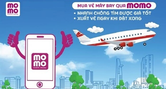 Đặt vé máy bay trên ví điện tử momo